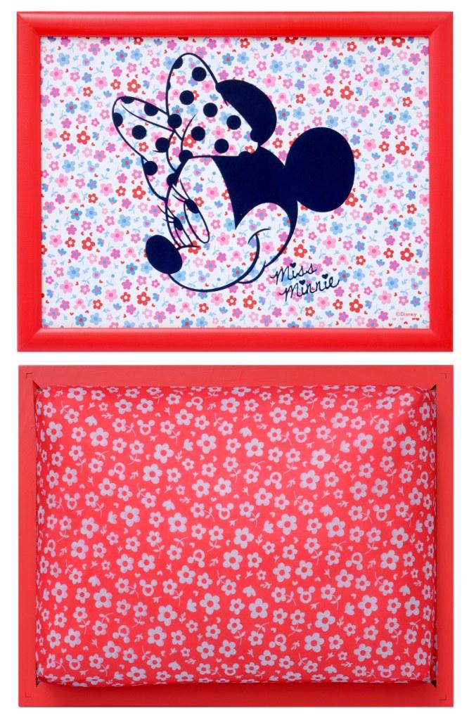 """Столик-поднос Disney """"Минни Маус"""", с подушкой, цвет: красный, белый, 44 х 34 х 8 см ( 61245_красный, белый )"""