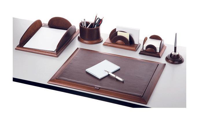 Набор настольный Protege, коллекция Empereur (06 предметов), натуральное дерево орех красно-коричневого цвета в сочетании с натуральной