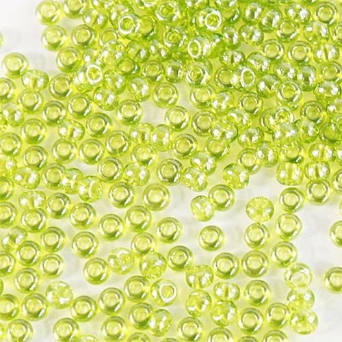 Бисер прозрачный с жемчужным покрытием 10/0 (56220), круг.отв., 50гр Preciosa7703101Бисер прозрачный с жемчужным покрытием 10/0 (56220), круг.отв., 50гр Preciosa