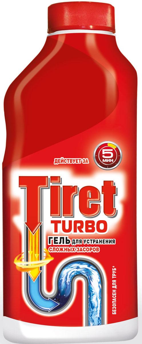 Гель для удаления засоров Tiret Turbo, 500 мл7506508Чистящее средство Tiret Turbo предназначено для очистки канализационных труб. Гель устраняет засоры в трубах за 5 минут, а также дезинфицирует. Безопасен для всех металлических и пластиковых труб. Характеристики: Объем: 500 мл. Изготовитель: Россия. Товар сертифицирован.