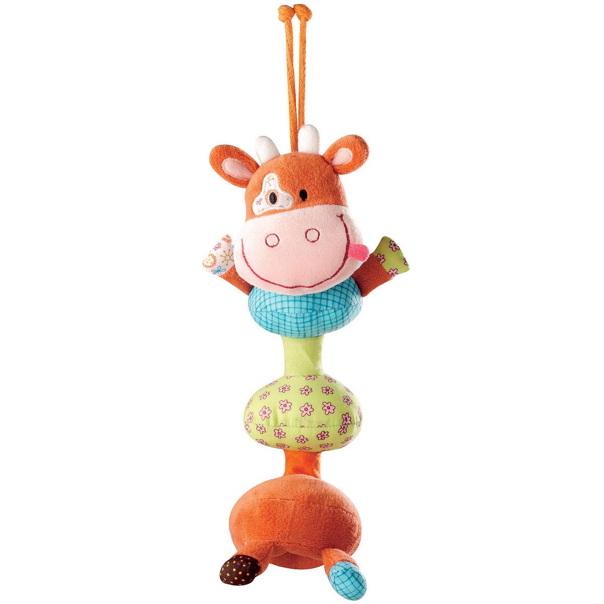 Развивающая игрушка-подвеска Lilliputiens «Корова Вики»