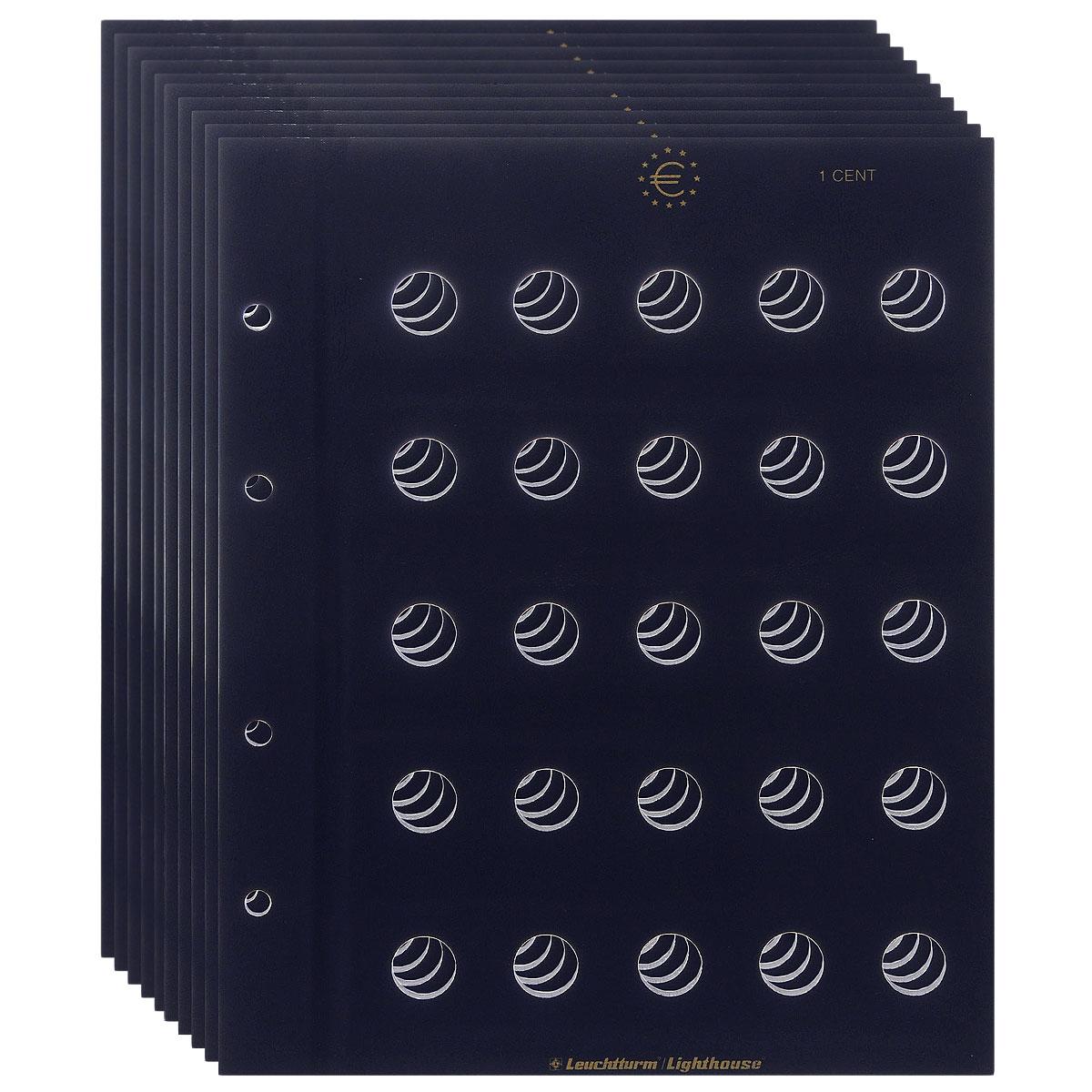 Лист MBLEU1CT, в альбом VISTA, для монет номиналом 1 евроцент, на 25 ячеек. Производство Leuchtturm (5 листов в упаковке)971795Характеристики: Размер листа: 24,5 см х 27 см Количество листов в упаковке: 5