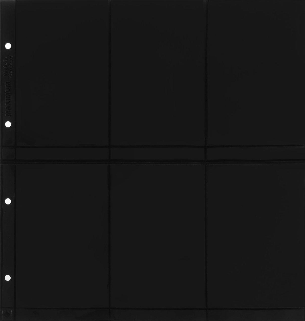 Лист в альбом Maximum для бон, на 6 бон. MAX 6S. Вертикальные ячейки. Производство Leuchtturm (10 листов в упаковке)329179Характеристики: Размер листа: 33,5 см х 32,5 см Размер ячейки: 14,8 см x 9,5 с Количество листов в упаковке: 10