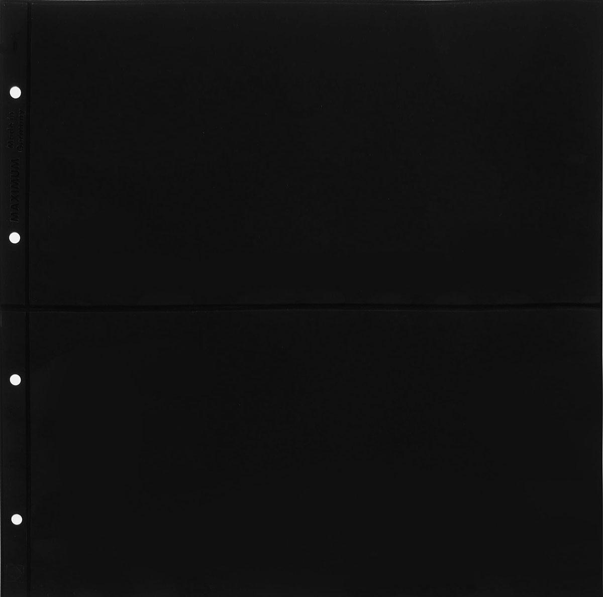Лист в альбом Max 7S на 2 ячейки черный (10 листов в упаковке)