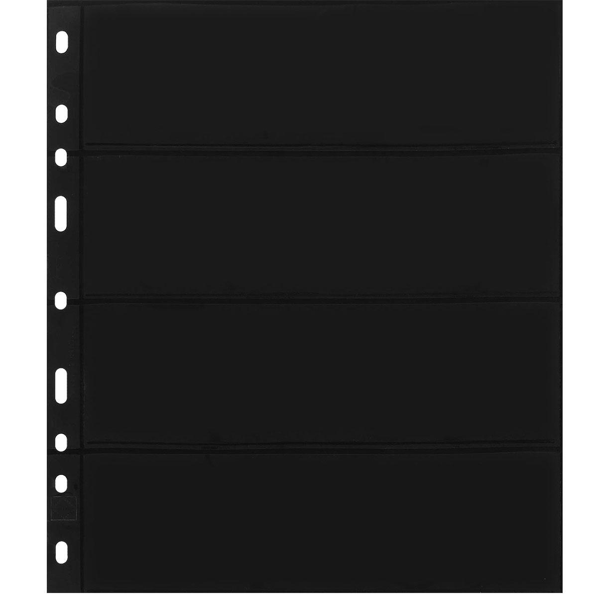 Лист в альбом Optima для бон, на 4 боны (S) (10 листов в упаковке)324851Характеристики: Размер листа: 25,2 см х 20,2 см Размер ячейки: 18 см x 7,7 см Количество листов в упаковке: 10