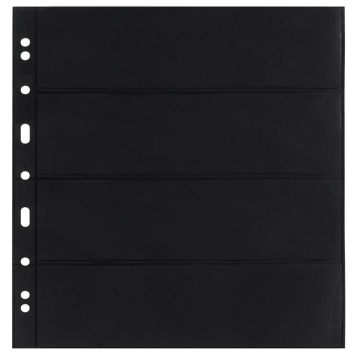 Лист в альбом Grande 4S для бон, на 4 ячейки. Leuchtturm. 312682 (10 листов в упаковке)312682Характеристики: Размер листа: 31,2 см х 24 см Размер ячейки: 21,6 см x 7,2 см Количество листов в упаковке: 10