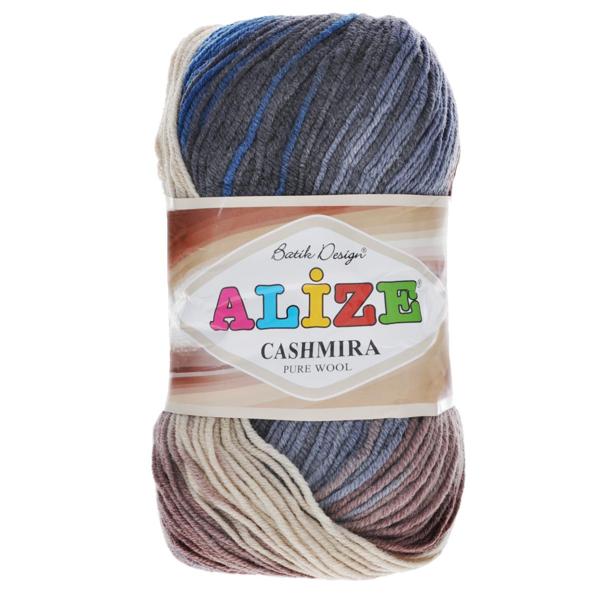 Пряжа для вязания Alize Cashmira Batik, цвет: бежевый, коричневый, серый (2805), 300 м, 100 г, 5 шт364130_2805Пряжа для вязания Alize Cashmira Batik изготовлена из 100% шерсти. Пряжа упругая, эластичная, тёплая, уютная и не колется, что очень подходит для детей. Тоненькая нитка прекрасно подойдет для вязки демисезонных вещей. Пряжа легко распускается и перевязывается несколько раз, не деформируясь и не влияя на вид изделия. Натуральная шерстяная нить, обеспечивает изделию прекрасную форму. Рекомендуется ручная стирка при температуре 30 °C. Рекомендованные спицы № 3-5, крючок № 2-4. С такой пряжей для ручного вязания вы сможете связать своими руками необычные и красивые вещи.