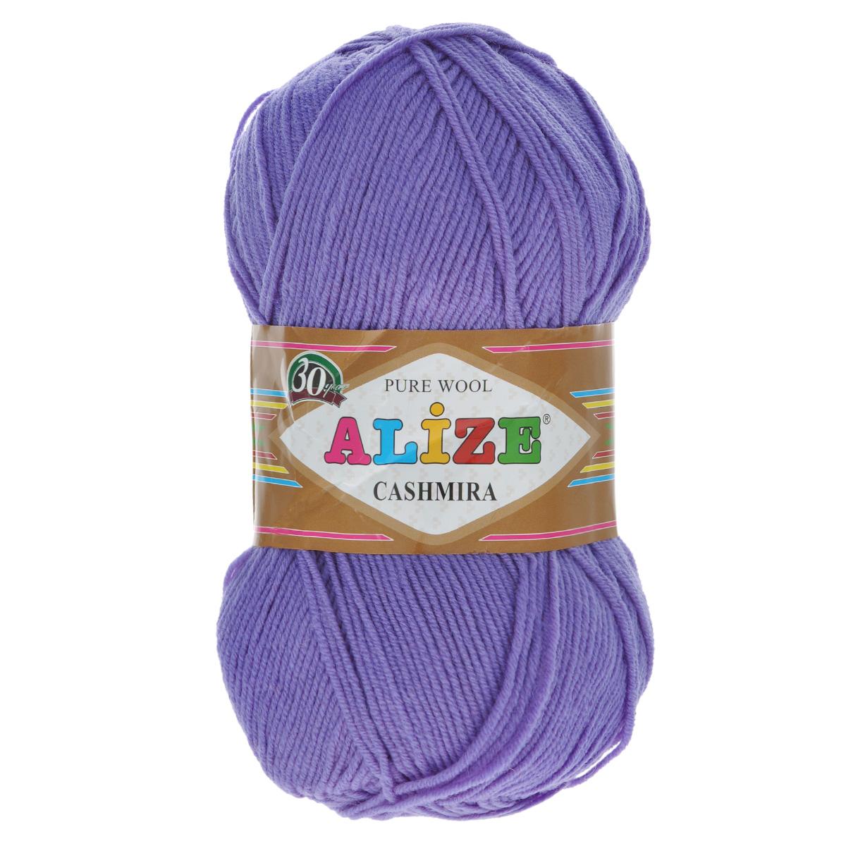 Пряжа для вязания Alize Cashmira, цвет: темно-лиловый (65), 300 м, 100 г, 5 шт364009_65Пряжа для вязания Alize Cashmira изготовлена из 100% шерсти. Пряжа упругая, эластичная, тёплая, уютная и не колется, что очень подходит для детей. Тоненькая нитка прекрасно подойдет для вязки демисезонных вещей. Пряжа легко распускается и перевязывается несколько раз, не деформируясь и не влияя на вид изделия. Натуральная шерстяная нить, обеспечивает изделию прекрасную форму. Рекомендуется ручная стирка при температуре 30 °C. Рекомендованные спицы № 3-5, крючок № 2-4.