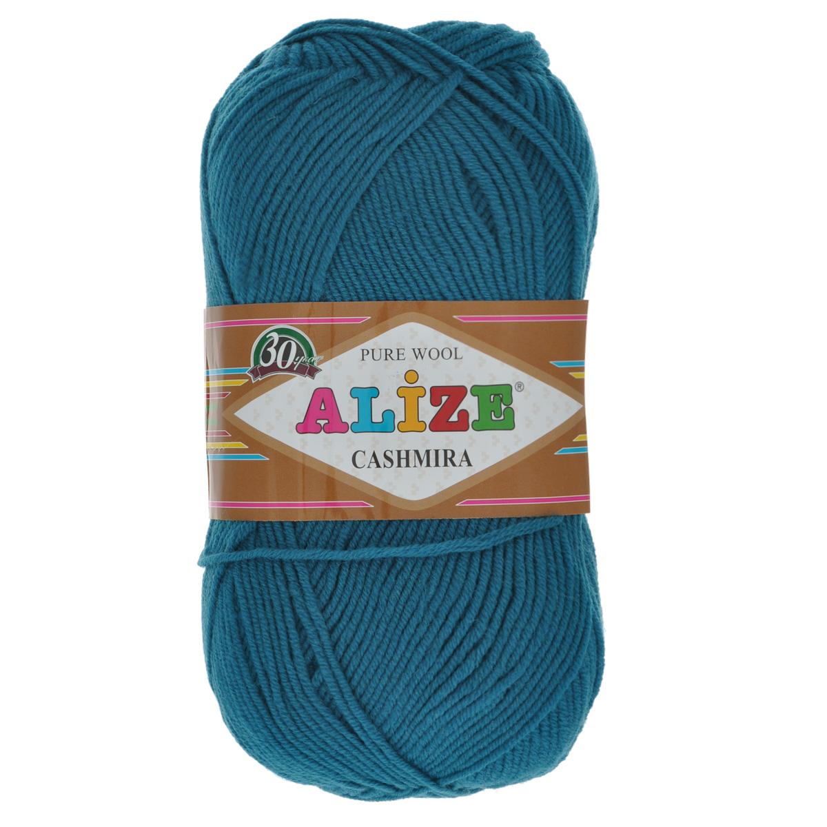 Пряжа для вязания Alize Cashmira, цвет: петрольный (17), 300 м, 100 г, 5 шт364009_17Пряжа для вязания Alize Cashmira изготовлена из 100% шерсти. Пряжа упругая, эластичная, тёплая, уютная и не колется, что очень подходит для детей. Тоненькая нитка прекрасно подойдет для вязки демисезонных вещей. Пряжа легко распускается и перевязывается несколько раз, не деформируясь и не влияя на вид изделия. Натуральная шерстяная нить, обеспечивает изделию прекрасную форму. Рекомендуется ручная стирка при температуре 30 °C. Рекомендованные спицы № 3-5, крючок № 2-4.