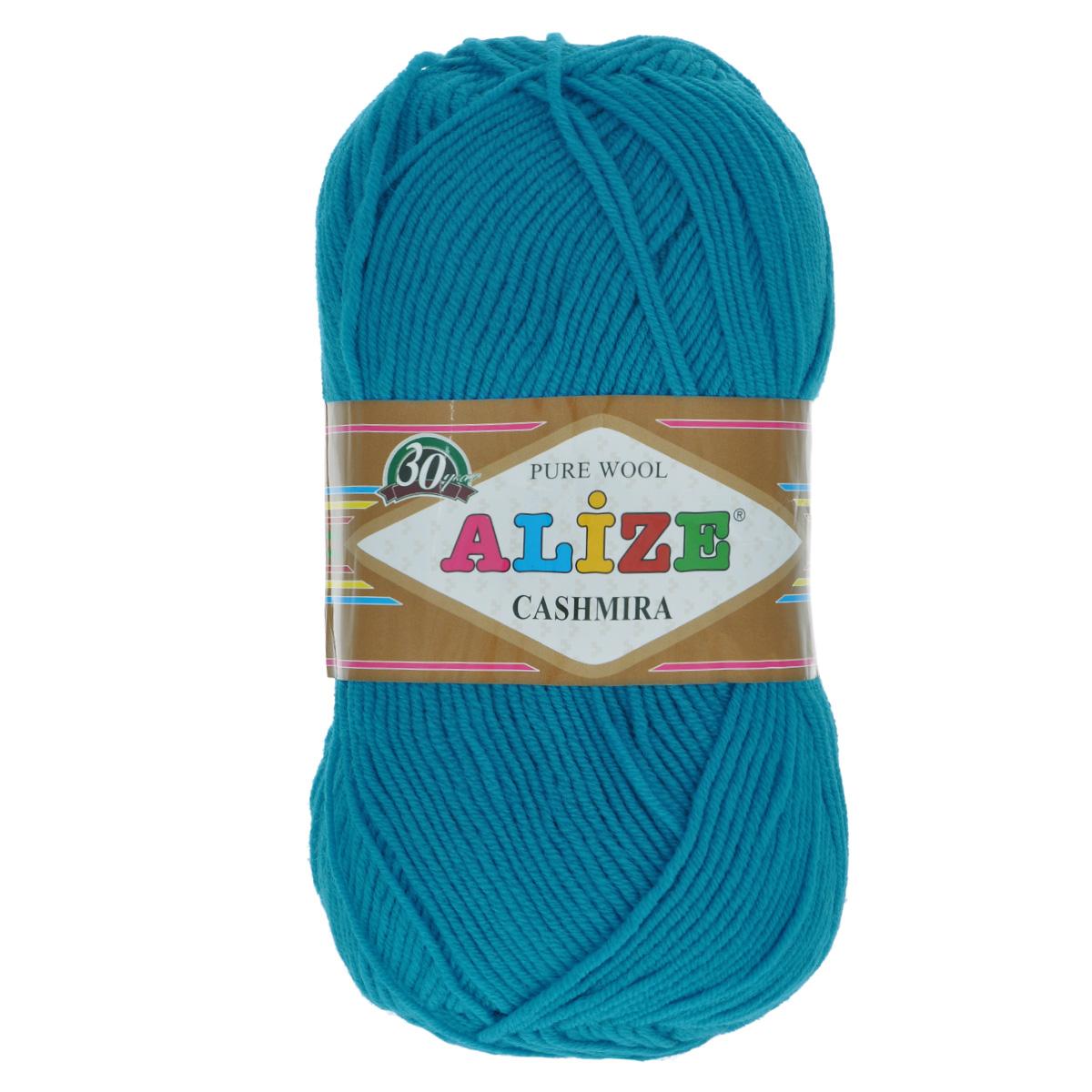 Пряжа для вязания Alize Cashmira, цвет: бирюзовый (64), 300 м, 100 г, 5 шт364009_64Пряжа для вязания Alize Cashmira изготовлена из 100% шерсти. Пряжа упругая, эластичная, тёплая, уютная и не колется, что очень подходит для детей. Тоненькая нитка прекрасно подойдет для вязки демисезонных вещей. Пряжа легко распускается и перевязывается несколько раз, не деформируясь и не влияя на вид изделия. Натуральная шерстяная нить, обеспечивает изделию прекрасную форму. Рекомендуется ручная стирка при температуре 30 °C. Рекомендованные спицы № 3-5, крючок № 2-4.