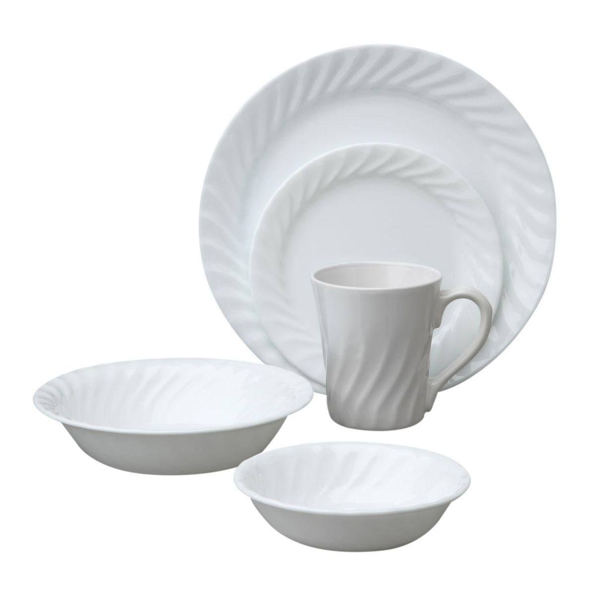 Набор посуды Enhancements 30пр, цвет: белый дмитриева в г учимся рисовать