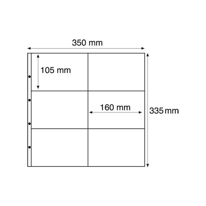 Лист в альбом Max 2C на 6 ячеек прозрачный (10 листов в упаковке)316329Характеристики: Размер листа: 35 см х 33,5 см Размер ячейки: 10,5 см x 16 см Количество листов в упаковке: 10