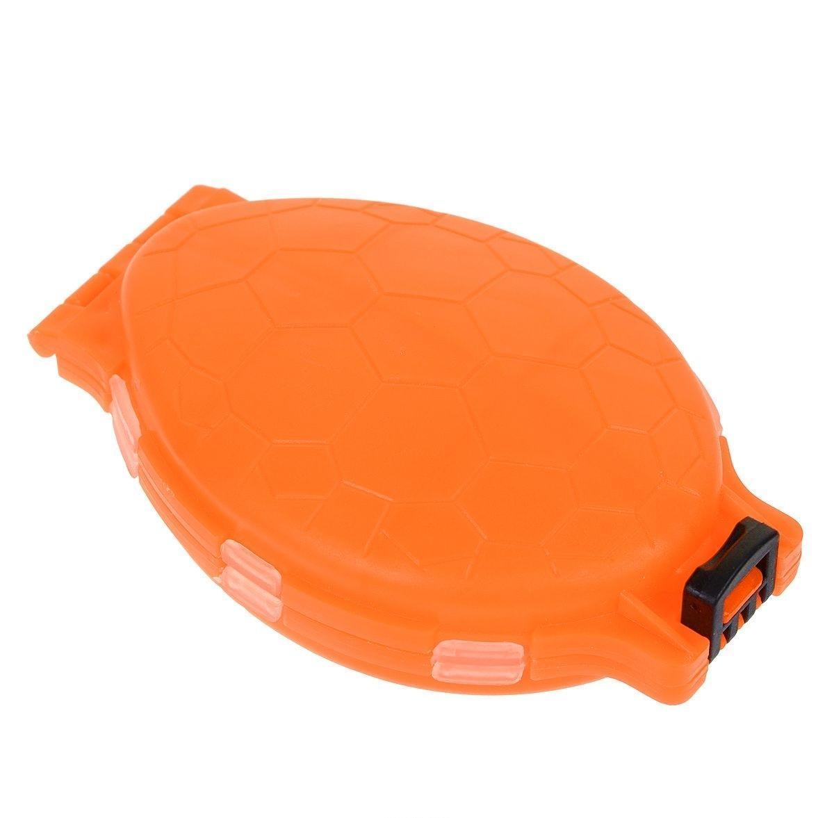 Органайзер для мелочей, двухсторонний, цвет: оранжевый, 11 см х 7,5 см х 2,5 см679530/8952430Удобная пластиковая коробка Три кита Черепашка прекрасно подойдет для хранения и транспортировки различных мелочей. Коробка имеет 12 фиксированных отделений. Удобный и надежный замок-защелка обеспечивает надежное закрывание коробки. Такая коробка поможет держать вещи в порядке.