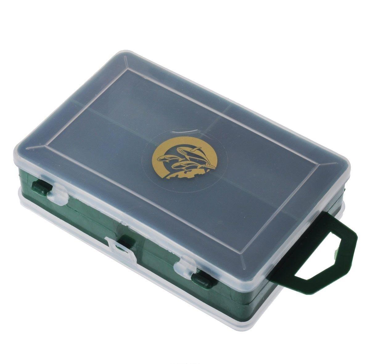 Органайзер для мелочей,, двухсторонний, цвет: зеленый, 11 см х 7,5 см х 3 см679534Удобная пластиковая коробка Три кита прекрасно подойдет для хранения и транспортировки различных мелочей. Коробка имеет 14 фиксированных отделений. Удобный и надежный замок-защелка обеспечивает надежное закрывание коробки. Такая коробка поможет держать вещи в порядке.