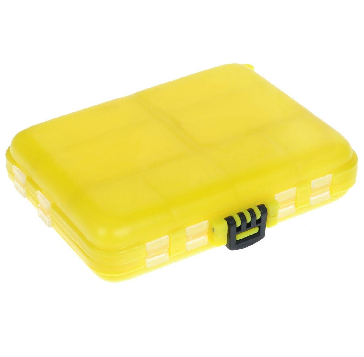 Органайзер для мелочей, двухсторонний, цвет: желтый, 12 х 10 х 3 см680266/8952818Удобная пластиковая коробка Три кита прекрасно подойдет для хранения и транспортировки различных мелочей. Коробка имеет 16 фиксированных отделений. Удобный и надежный замок-защелка обеспечивает надежное закрывание коробки. Такая коробка поможет держать вещи в порядке.