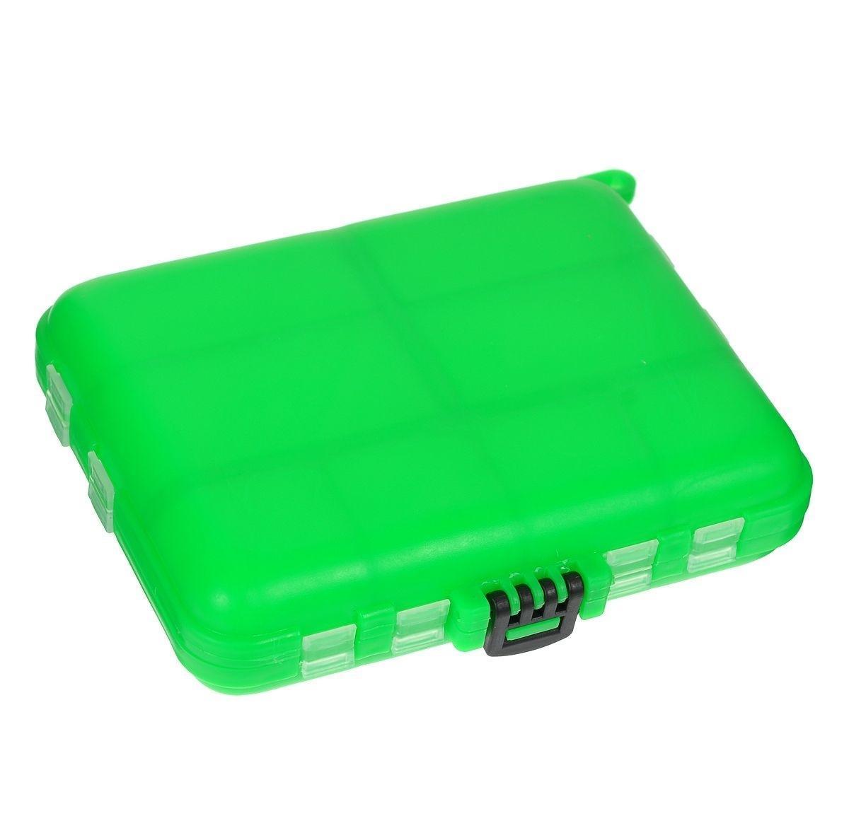 Органайзер для мелочей,, двухсторонний, цвет: зеленый 12 х 10 х 2,5 см, Три кита