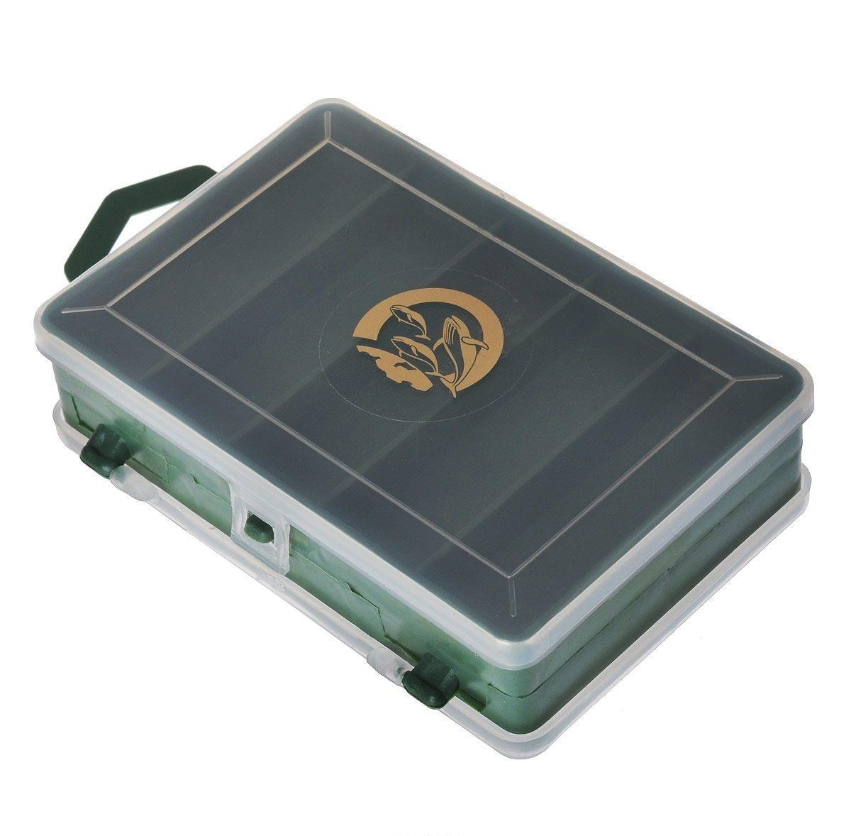 Органайзер для мелочей,, двухсторонний, цвет: зеленый, 11 х 7,5 х 3 см 679533679533Удобная пластиковая коробка Три кита прекрасно подойдет для хранения и транспортировки различных мелочей. Коробка имеет 16 фиксированных отделений. Удобный и надежный замок-защелка обеспечивает надежное закрывание коробки. Такая коробка поможет держать вещи в порядке.