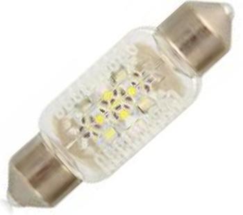 Лампа автомобильная Narva Fest T10,5 12V- 0,35W (SV8,5-38/11) LED 6000K (2шт.) 1801018010 (бл.2)Лампа автомобильная Fest T10,5 12V- 0,35W (SV8,5-38/11) LED 6000K (блистер 2шт.) (Narva). 18010 (бл.2) - обладают ярким эффектным светом и компактными размерами. У лампы есть большой запас срока службы. Способна выдержать большое количество включений и выключений. Напряжение: 12 вольт