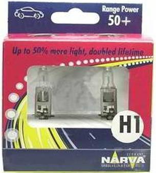 Лампа автомобильная Narva RP50 H1 12V-55W (P14,5s) (к.уп.2шт.) 4833448334 (ку.2)Лампа автомобильная H1 12V- 55W (P14,5s) RP50 (к.уп.2шт.) (Narva). 48334 (ку.2) - обладают ярким эффектным светом и компактными размерами. У лампы есть большой запас срока службы. Способна выдержать большое количество включений и выключений. Напряжение: 12 вольт
