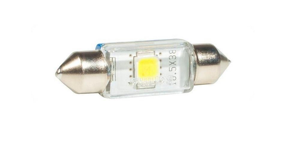 Сигнальная автомобильная лампа Fest T10,5 24V- 1W (SV8,5-41/11) LED 6000K (к.уп.1шт.) 24946 6000KX124946 6000KX1Уже в течение 100 лет компания Philips остается в авангарде автомобильного освещения, внедряя технологические инновации, которые впоследствии становятся стандартом для всей отрасли. Сегодня каждый второй автомобиль в Европе и каждый третий в мире оснащены световым оборудованием Philips. Соответствие нормам ECE Philips Automotive предлагает лучшие в классе продукты и услуги на рынке оригинальных комплектующих и послепродажного обслуживания автомобилей. Наши продукты производятся из высококачественных материалов и соответствуют самым высоким стандартам, чтобы обеспечить максимальную безопасность и комфортное вождение для автомобилистов. Вся продукция проходит тщательное тестирование, контроль и сертификацию (ISO 9001, ISO 14001 и QSO 9000) в соответствии с самыми высокими требованиями ECE. Многократное использование Где использовать лампу на 12 В? Решения Philips Automotive удовлетворят все нужды автомобилистов: дальний свет, ближний свет, передние...