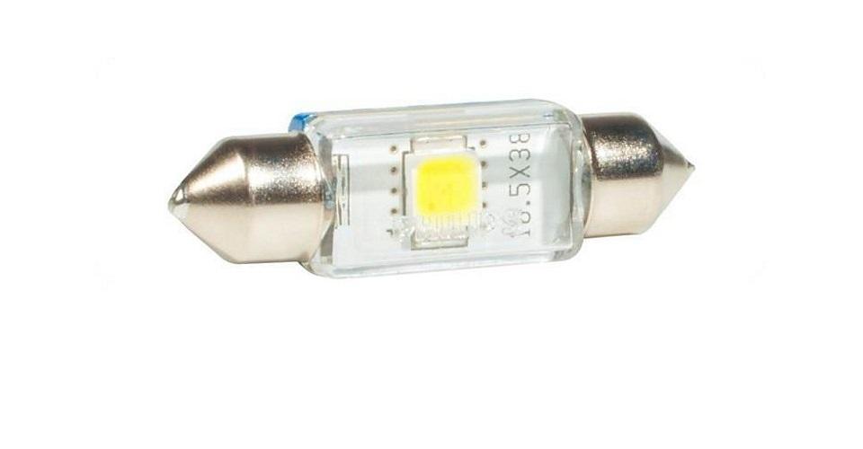 Сигнальная автомобильная лампа Fest T10,5 24V- 1W (SV8,5-38/11) LED 6000K (к.уп.1шт.) 24944 6000KX124944 6000KX1Уже в течение 100 лет компания Philips остается в авангарде автомобильного освещения, внедряя технологические инновации, которые впоследствии становятся стандартом для всей отрасли. Сегодня каждый второй автомобиль в Европе и каждый третий в мире оснащены световым оборудованием Philips. Соответствие нормам ECE Philips Automotive предлагает лучшие в классе продукты и услуги на рынке оригинальных комплектующих и послепродажного обслуживания автомобилей. Наши продукты производятся из высококачественных материалов и соответствуют самым высоким стандартам, чтобы обеспечить максимальную безопасность и комфортное вождение для автомобилистов. Вся продукция проходит тщательное тестирование, контроль и сертификацию (ISO 9001, ISO 14001 и QSO 9000) в соответствии с самыми высокими требованиями ECE. Многократное использование Где использовать лампу на 12 В? Решения Philips Automotive удовлетворят все нужды автомобилистов: дальний свет, ближний свет, передние...