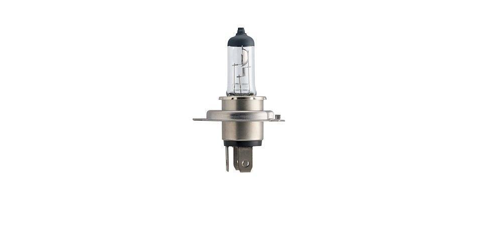 Лампа автомобильная галогенная Philips Vision, для фар, цоколь H4 (P43t), 12V, 60/55W12342PRB1 (бл.)Автомобильная галогенная лампа Philips Vision произведена из запатентованного кварцевого стекла с УФ фильтром Philips Quartz Glass. Кварцевое стекло Philips в отличие от обычного твердого стекла выдерживает гораздо большее давление смеси газов внутри колбы, что препятствует быстрому испарению вольфрама с нити накаливания. Кварцевое стекло выдерживает большой перепад температур, при попадании влаги на работающую лампу изделие не взрывается и продолжает работать. Лампы Philips Vision дают на 30% больше света по сравнению со стандартными лампами. Они создают превосходный световой поток, отличаются приемлемой ценой и соответствуют стандартам качества для оригинального оборудования. Благодаря улучшенному распределению света лампы Philips Vision способны освещать дорогу на большем расстоянии, повышая безопасность и комфорт вождения. Автомобильные галогенные лампы Philips удовлетворят все нужды автомобилистов: дальний свет, ближний свет, передние противотуманные фары,...