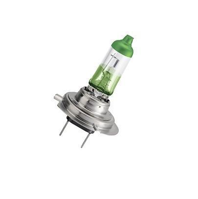 Лампа автомобильная галогенная Philips ColorVision Green, для фар, цоколь H7 (PX26d), 12V, 55W, 2 шт12972CVPGS2Галогенная лампа для автомобильных фар Philips ColorVision произведена из запатентованного кварцевого стекла с УФ фильтром Philips Quartz Glass. Кварцевое стекло Philips в отличие от обычного твердого стекла выдерживает гораздо большее давление смеси газов внутри колбы, что препятствует быстрому испарению вольфрама с нити накаливания. Кварцевое стекло выдерживает большой перепад температур, при попадании влаги на работающую лампу изделие не взрывается и продолжает работать. Лампа ColorVision придает автомобильной фаре зеленый оттенок, при этом она излучает яркий белый свет. Лампа отражает свет, направляя его через оптические элементы, и создает интересные цветные эффекты. Такие лампы обеспечивают на 60% больше света и увеличивают видимость до 25 метров (по сравнению с обычными лампами). Эти инновационные цветные автомобильные лампы сертифицированы для использования на дорогах. Они соответствуют европейским стандартам и обеспечивают прекрасное освещение, излучая...