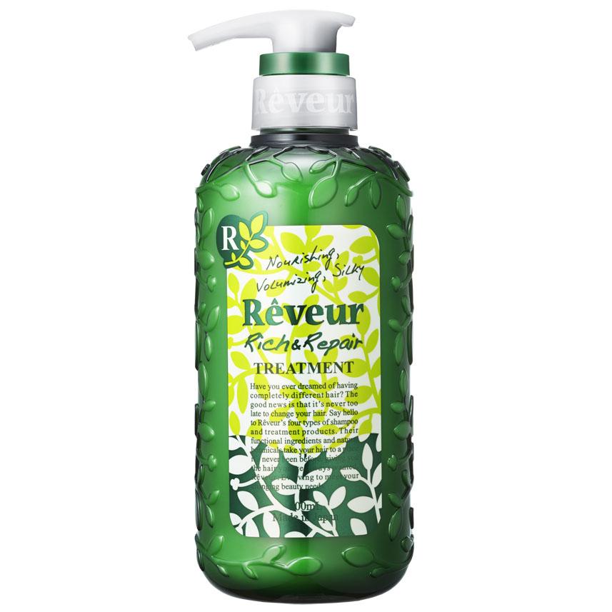 Reveur Кондиционер для волос Питание и восстановление, 500 мл3210Кондиционер содержит 3 специальных природных компонента, придающих упругость, эластичность, а также 14 растительных экстрактов, питающих волосы и возвращающих им естественный и здоровый вид. Смягчающий компонент на основе коллагена делает волосы невероятно мягкими и послушными. Силикон, содержащийся в кондиционере, запечатывает полезные компоненты на ваших волосах до следующего мытья головы. Рекомендуется для: ослабленных волос, не держащих объем; волос, потерявших упругость и эластичность, не поддающихся укладке; сильно поврежденных волос; кудрявых волос; создания красивых локонов. Имеет элегантный и теплый восточный аромат «Oriental Floral». Рекомендуется использовать вместе с шампунем Reveur «Rich & Repair». Товар сертифицирован.