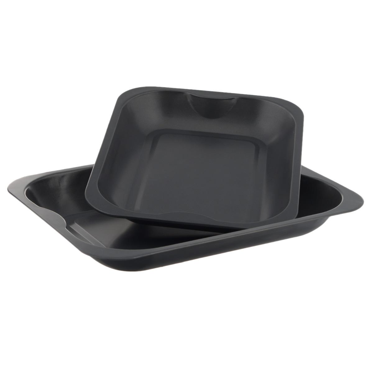 Набор противней Mayer & Boch, с антипригарным покрытием, прямоугольные, 2 шт21919Набор Mayer & Boch состоит из двух противней разного размера. Противни изготовлены из углеродистой стали с антипригарным покрытием, благодаря чему пища не пригорает и не прилипает к стенкам посуды. Кроме того, готовить можно с добавлением минимального количества масла и жиров. Антипригарное покрытие также обеспечивает легкость мытья. Внутренние боковые стенки ровные. Подходит для использования в духовом шкафу. Не подходит для СВЧ-печей. Рекомендуется ручная чистка. Используйте только деревянные и пластиковые лопатки. Размер малого противня (ДхШхВ): 32 см х 26 см х 4 см. Размер большого противня (ДхШхВ): 38,5 см х 30 см х 4,5 см.