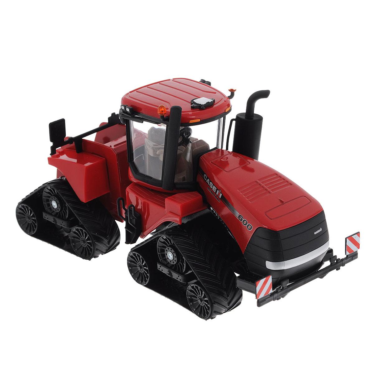 Siku Трактор Case IH Quadtrac 6003275Коллекционная модель Siku Трактор Case IH Quadtrac 600 выполнена в виде точной копии гусеничного трактора в масштабе 1/32. Такая модель понравится не только ребенку, но и взрослому коллекционеру и приятно удивит вас высочайшим качеством исполнения. Корпус трактора выполнен из металла, кабина из пластика, а стекла кабины трактора из прозрачного пластика. Трактор снабжен гусеничным механизмом со свободным ходом, что обеспечивает игрушке устойчивость и хорошую проходимость. Кабина трактора снимается. Колесики модели вращаются. Коллекционная модель отличается великолепным качеством исполнения и детальной проработкой, она станет не только интересной игрушкой для ребенка, интересующегося агротехникой, но и займет достойное место в коллекции.
