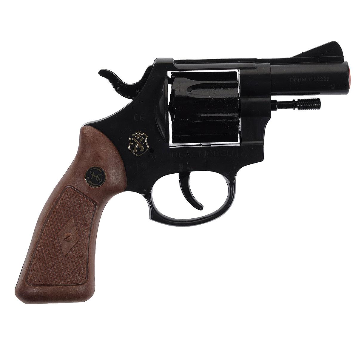 Пистолет Interpol 382020038Пистолет Interpol 38 - Стильный игрушечный 12-зарядный пистолет, мечта любого мальчишки! Этот пистолет выглядит совсем как оружие смелых и отважных полицейских из Интерпола, которые раскрывают самые запутанные дела и ловят самых хитрых преступников Пистолет изготовлен из металла и пластика. стреляет пистонами и имеет 12-зарядный барабан. Немецкая компания Schrodel является признанным производителем игрушек с 1846 года и за это время успела завоевать доверие родителей всего мира.