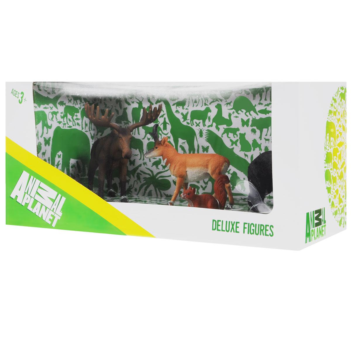 Набор фигурок Mojo Лесные животные 3, 4 шт387318Набор фигурок Mojo Лесные животные 3 познакомят вашего ребенка с окружающим миром. В набор входят четыре фигурки: лось, медведь, белка и антилопа, которые имеют высокую степень сходства с настоящими лесными животными и очень высокую детализацию, что позволяет использовать фигурки не только как игровые, но и как коллекционные. Кроме того, фигурки можно использовать в качестве наглядного пособия при изучении животного мира. Фигурки изготовлены из полимерного материала, не токсичны и не вызывают аллергию.