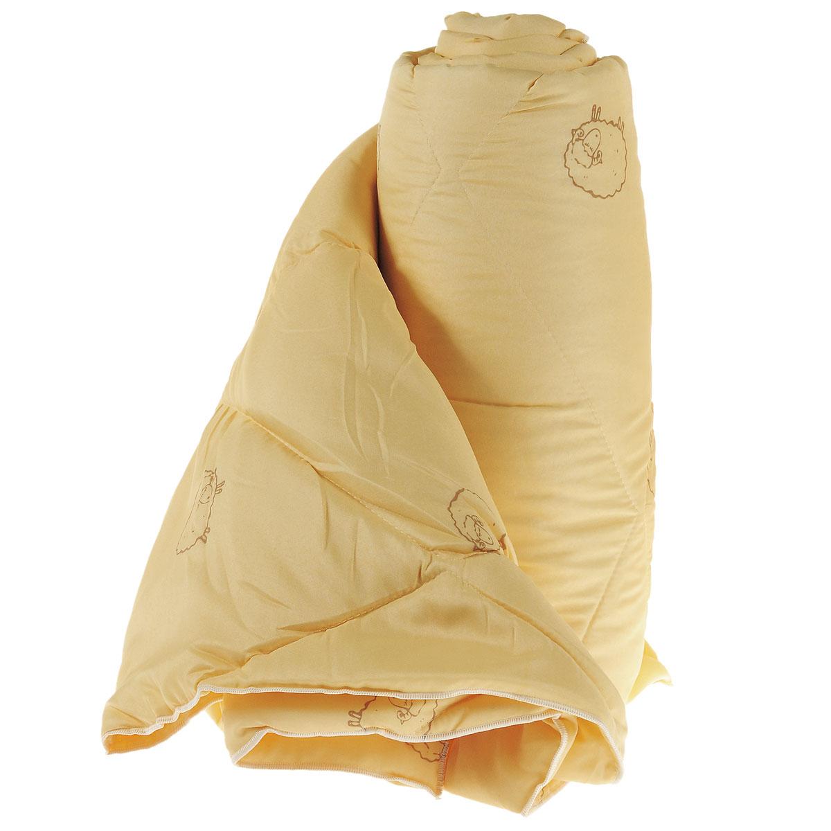 Одеяло Sleeper Находка, легкое, наполнитель: овечья шерсть, цвет: желтый, 140 x 200 см22(33)323Легкое одеяло Sleeper Находка с наполнителем - овечьей шерстью, со стежкой, не оставит равнодушными тех, кто ценит здоровье и красоту. Изысканный цвет чехла отвечает современным европейским тенденциям, а наполнитель из овечьей шерсти придает изделию мягкость, упругость и повышенные теплозащитные свойства. Ткань чехла изготовлена из микрофибры - мягкого, приятного на ощупь материала. Материал чехла: микрофибра (100% полиэстер). Материал наполнителя: овечья шерсть. Масса наполнителя: 200 г/м2.