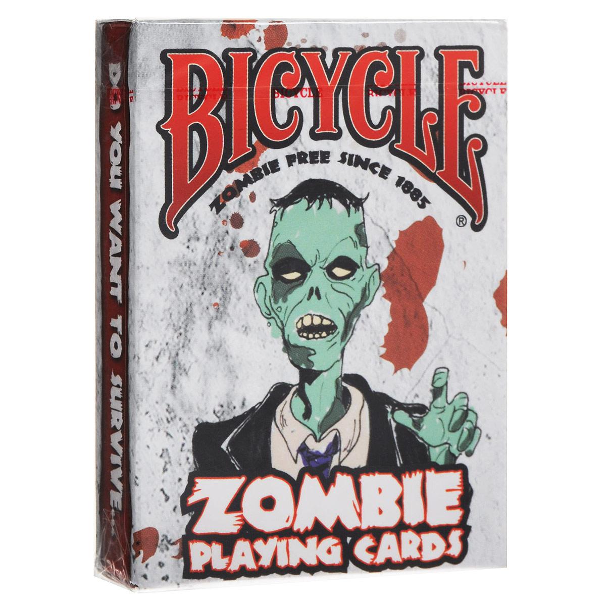Карты игральные коллекционные Bicycle Zombies, цвет: серый, 54 карты. 91189118