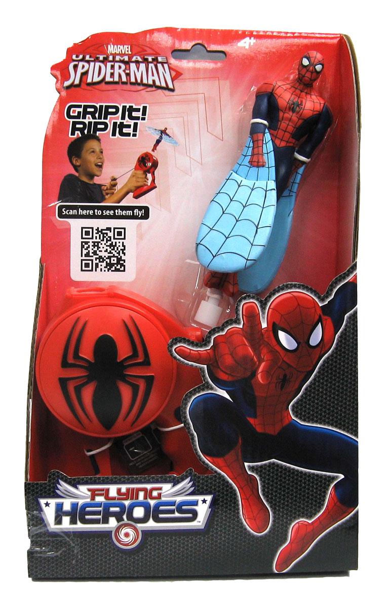 Игрушка I-Star Летающий герой. Spider-Man52253Игрушка I-Star Летающий герой. Spider-Man приведет в восторг вашего малыша, ведь это супергерой, который действительно летает! Игрушка выполнена из яркого прочного пластика в виде Человека-Паука. Руки у него плавно переходят в крылья-лопасти, изготовленные из легкого вспененного полимера. Комплект включает специальное ручное устройство для запуска игрушки, оформленное знаменитым рельефным логотипом Человека-Паука. Необходимо поместить в отверстие в верхней части устройства основание игрушки и вытянуть из устройства веревочку. Активизируется специальный механизм, и супергерой взлетит в воздух! Ребенку понравится наблюдать, как игрушка быстро и легко планирует, и он не захочет с ней надолго расставаться ни дома, ни на улице! Порадуйте его таким замечательным подарком!