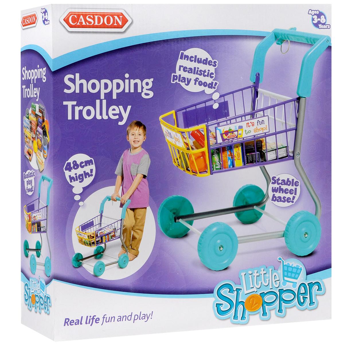 Игровой набор Casdon Тележка для покупок, с набором имитационных продуктов питания