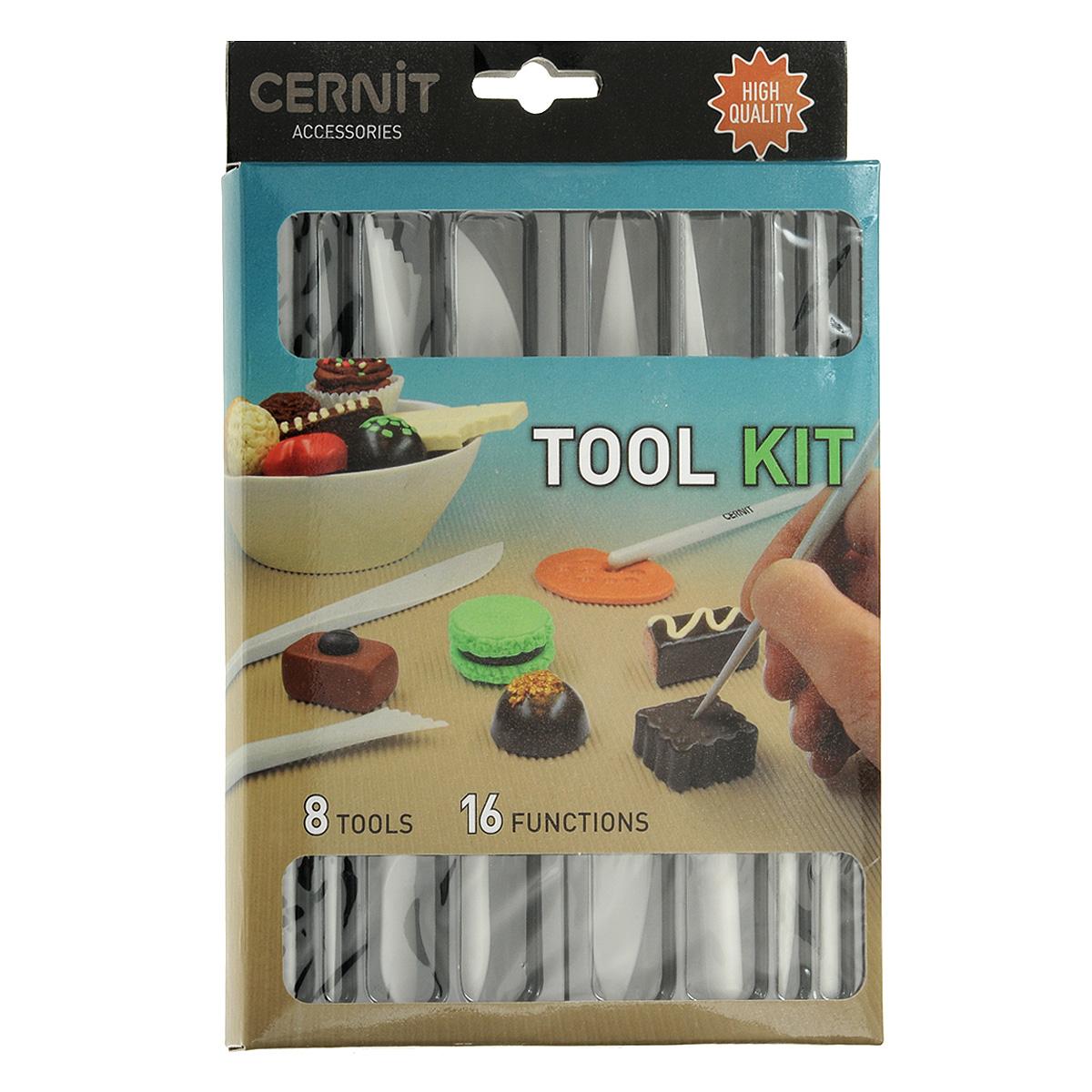 Набор инструментов для пластики Cernit, 8 предметов692529Набор инструментов для пластики Cernit состоит из 8 стеков, имеющих 16 различных форм рабочих поверхностей. Стеки выполнены из прочного пластика и предназначены для работы с полимерной глиной. Полимерная масса хорошо поддается обработке, не приклеиваясь к поверхности инструмента. Стеки применяются для отрезания, разглаживания, придания рельефа, расставления акцента. Набор Cernit даст вам безграничные возможности при работе с полимерной глиной.