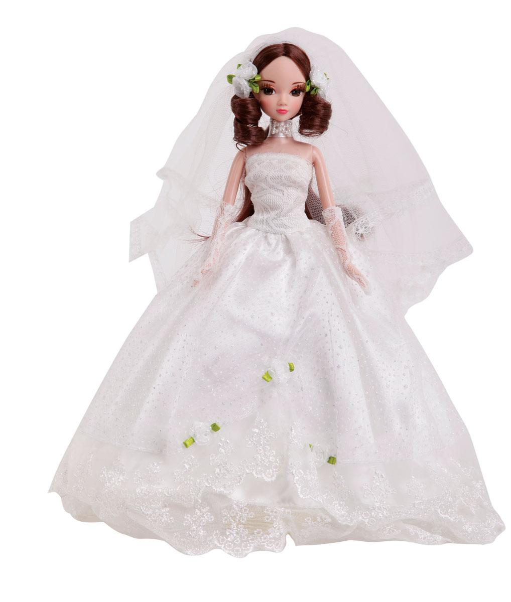 Sonya Rose Кукла Gold Collection Лунный каменьR9038NКукла Sonya Rose Gold Collection. Лунный камен одета в красивое пышное свадебное платье, украшенное блестками и цветочком. Ее длинные густые темные волосы украшены фатой с цветочками. У куколки длинные густые ресницы, красивый макияж и чудесная прическа. Дополнением к наряду идут туфельки в тон платью, ажурные перчатки и декоративный воротничок с бантиком из бусин. Руки, ножки и голова куколки подвижны. В комплект входит вертикальная подставка для куколки. Такая очаровательная кукла обязательно понравится вашей малышке.