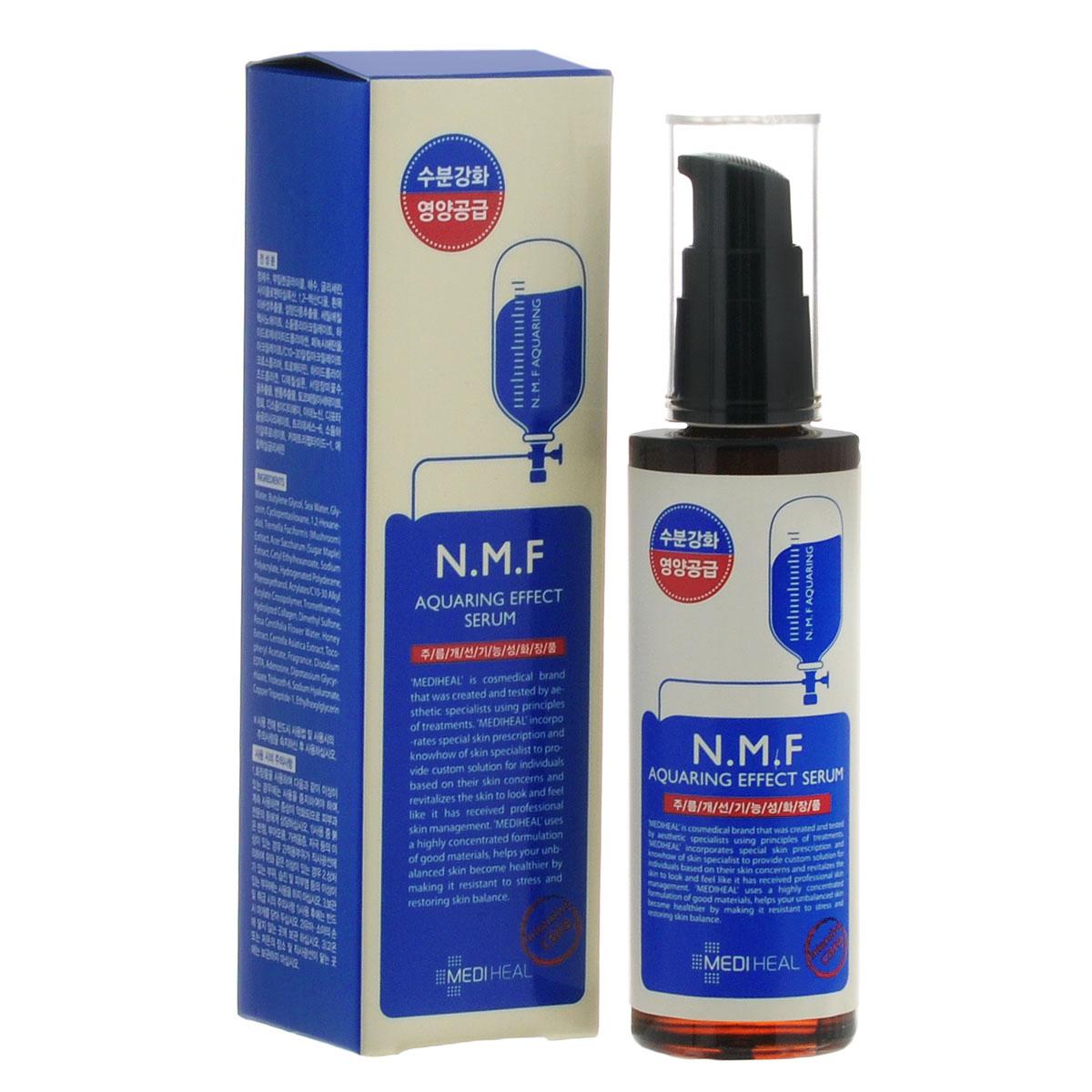Beauty Clinic Сыворотка для лица Aquaring Effect, с N.M.F., увлажняющая, 50 мл555852Сыворотка содержит N.M.F. и другие активные увлажняющие и подтягивающие компоненты, такие как глубинная морская вода, гиалуроновая кислота, экстракты древесного гриба, сахарного клена, меда, центеллы азиатской. Интенсивно увлажняет, подтягивает и питает кожу, придает ей свежий вид. Способствует разглаживанию морщин. NMF (натуральный увлажняющий фактор) - это сложный комплекс молекул в роговом слое кожи, который способен притягивать и удерживать влагу, обеспечивать упругость и плотность рогового слоя кожи. В состав NMF входят низкомолекулярные пептиды, карбамид, пирролидонкарбоновая кислота, аминокислоты и т. д. При недостаточности увлажняющего фактора происходит обезвоживание эпидермиса. Глубинная морская вода содержит большое количество питательных веществ и 70 видов минералов, которые активно увлажняют кожу, придают ей здоровый вид, делают цвет кожи более естественным, выравнивают тон кожи. Экстракт клена сахарного ускоряет процесс обновления клеток,...