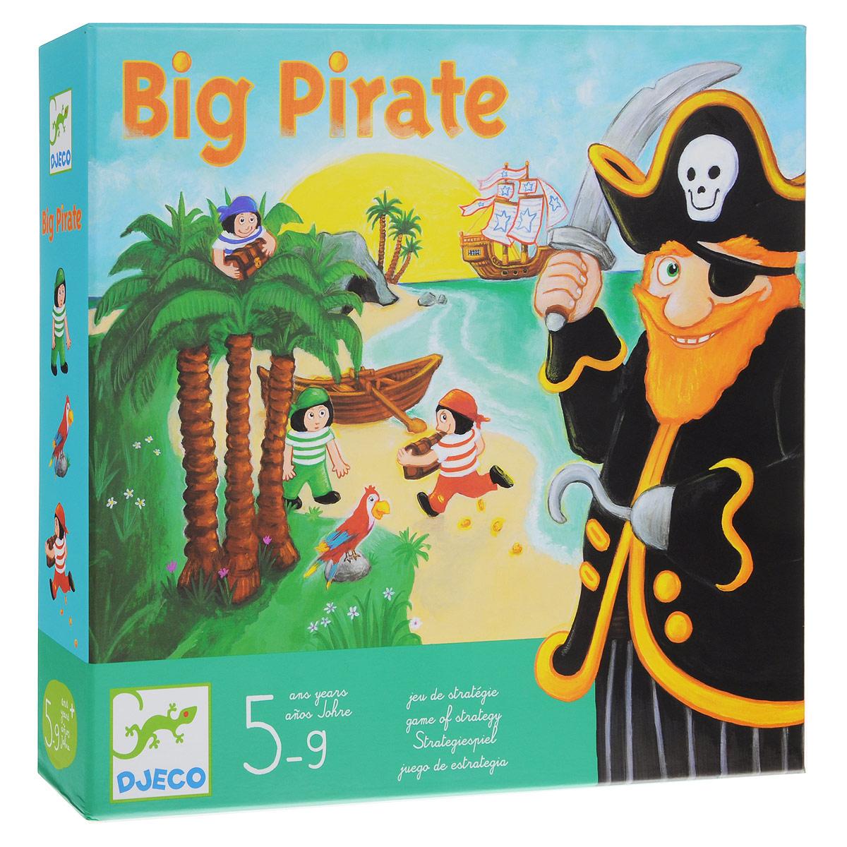 Настольная игра Djeco Большой пират08423Настольная игра Djeco Большой пират. Мы не знаем, могут ли юнги украсть сокровища Большого пирата? Юнге нужно постараться захватить сундук с сокровищами, запрятанный в пещере пирата и донести его до лодки. Вашему малышу понравится играть в маленького юнгу. Ваш ребёнок откроет в себе новые таланты, и разовьет творческое мышление.