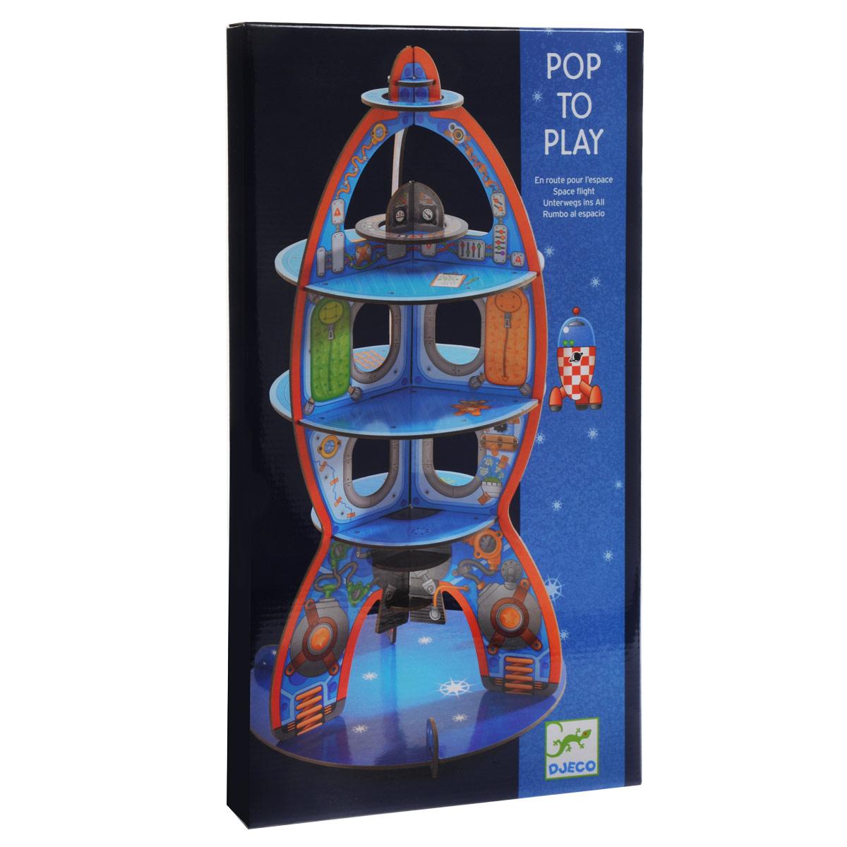 Конструктор-макет Djeco Ракета07701Внимание! Ракета на старте! Оригинальный конструктор из плотного картона станет отличной декорацией для увлекательной космической игры. Любимые детские игрушки смогут полететь на Марс на этой красивой ракете. Набор для конструирования из плотного картона.