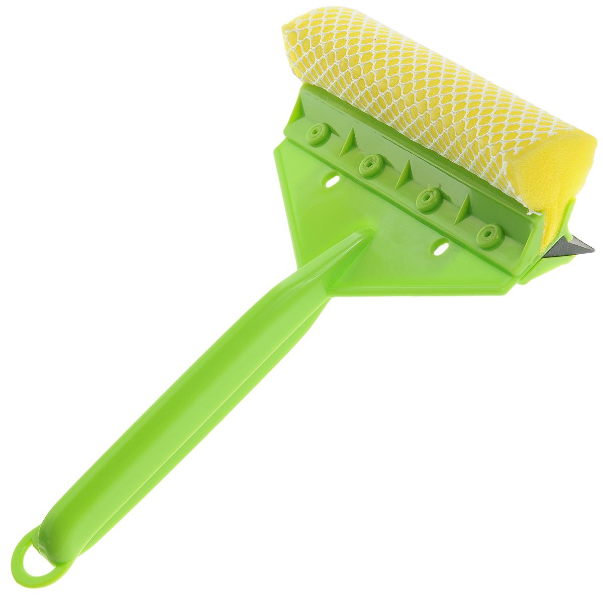 Щетка для мытья стекол Sapfire, с водосгоном, цвет: салатовый, 24 см0924-SFЩетка Sapfire предназначена для мытья стекол. Рукоятка выполнена из морозостойкого пластика. Щетка выполнена из высокоупорного поролона с защитной сеткой для бережной мойки, не повреждая лакокрасочного покрытия автомобиля. Для наиболее удобной работы оснащен резиновым водосгоном. УВАЖАЕМЫЕ КЛИЕНТЫ! Обращаем ваше внимание на ассортимент в цветовом дизайне товара. Поставка осуществляется в зависимости от наличия на складе.