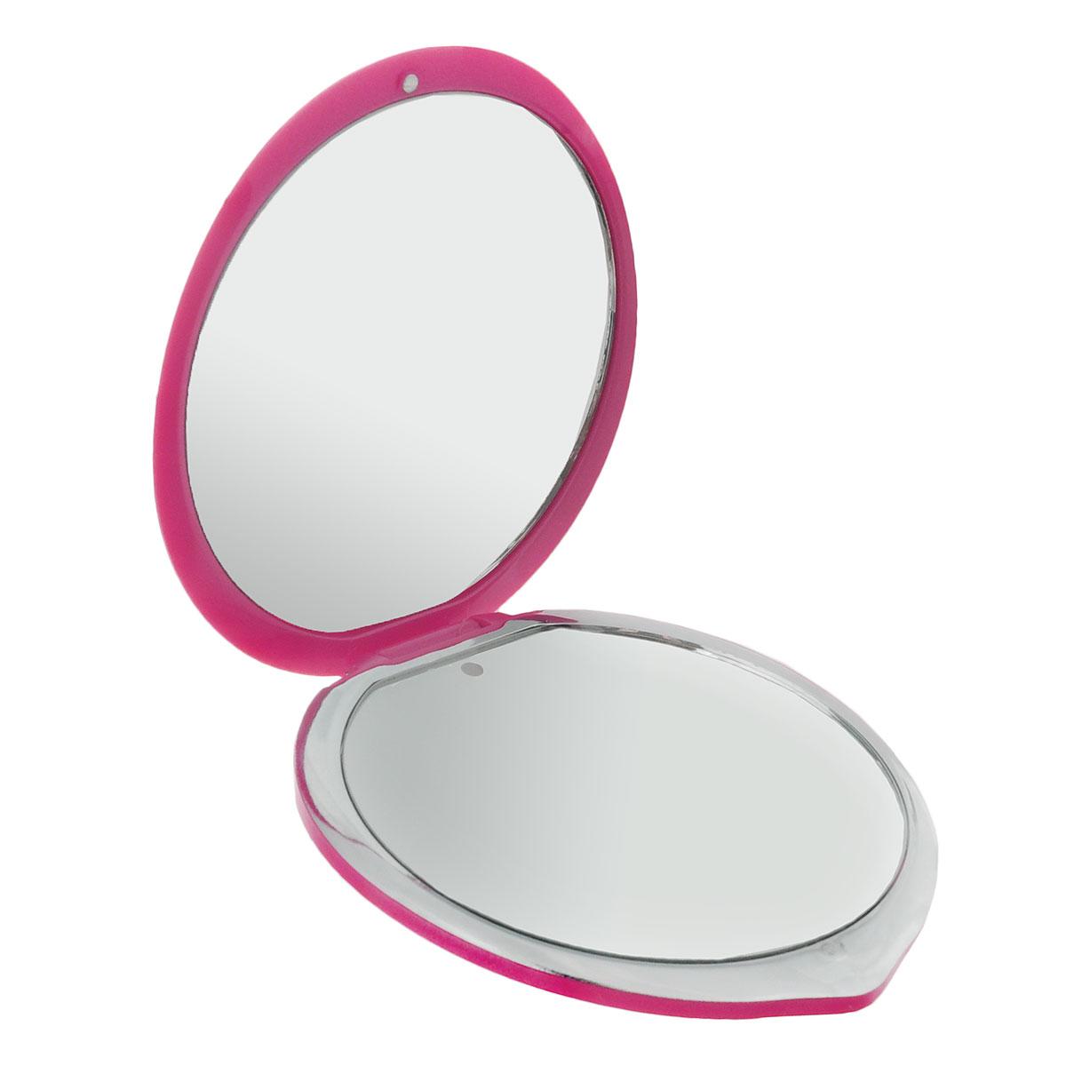 """Touchbeauty Компактное двойное зеркало, с подсветкой. AS-1277AS-1277Миниатюрное складное косметическое зеркало в пластиковом корпусе. Двукратное увеличение одной из сторон, LED-подсветка. Ультратонкий стильный дизайн в форме капли, стойкая к царапинам поверхность и магнитный замок. Подсветка работает от 2 батареек типа """"CR2025"""" (входят в комплект). Товар сертифицирован."""