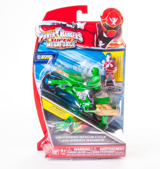 Набор фигурок Power Rangers Рейнджер на мотоцикле, цвет: зеленый, 3 шт38070/38073 зеленыйНабор фигурок Power Rangers Рейнджер на мотоцикле станет прекрасным подарком для вашего ребенка. В набор входит: 2 фигурки рейнджеров, мотоцикл. Фигурки выполнены из прочного пластика ярких цветов. Инертный двигатель мотоцикла приходит в движение при помощи специального ключа (входит в комплект). Ваш ребенок будет часами играть с этой фигуркой, придумывая различные истории с участием любимого героя. Могучие рейнджеры - американский телесериал в жанре токусацу, созданный компанией Saban в 1993 году на основе японского сериала Super Sentai Show. С 2003 года производился компанией Disney.