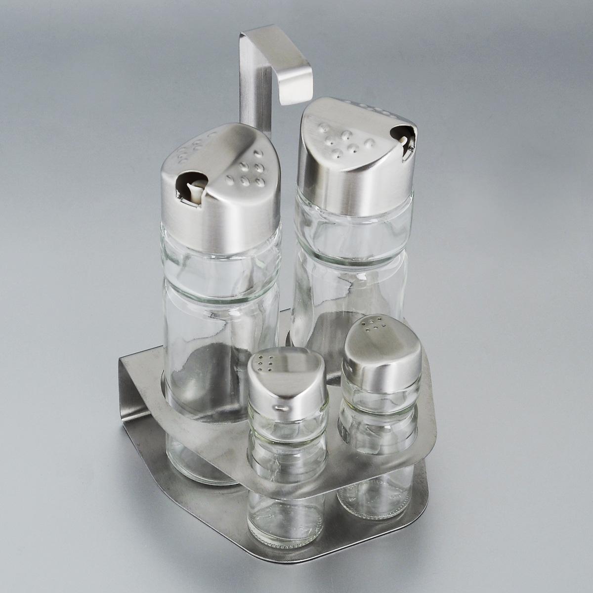 Набор для специй Bekker, 5 предметов. BK-3097BK-3097Набор для специй Bekker состоит из солонки, перечницы, двух дозаторов для масла и уксуса и подставки. Емкости выполнены из стекла и оснащены металлическими крышками. В комплекте имеется подставка из нержавеющей стали с матовой полировкой. Такой набор стильно украсит кухонный стол, а благодаря качеству материалов и высококлассной обработке прослужит долгие годы. Высота солонки/перечницы: 9 см. Диаметр солонки/перечницы: 3 см. Объем дозаторов: 150 мл. Высота дозаторов: 16 см. Диаметр дозаторов: 5 см. Размер подставки (ДхШхВ): 12,5 см х 11 см х 19,5 см. Высота солонки/перечницы: 9 см. Диаметр солонки/перечницы: 3 см. Объем дозаторов: 150 мл. Высота дозаторов: 16 см. Диаметр дозаторов: 5 см. Размер подставки (ДхШхВ): 12,5 см х 11 см х 19,5 см.