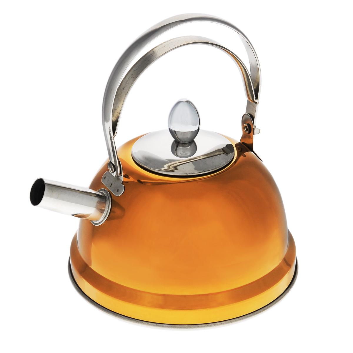 Чайник Bekker De Luxe, с ситечком, цвет: оранжевый 0,8 л. BK-S430BK-S430Чайник Bekker De Luxe выполнен из высококачественной нержавеющей стали, что обеспечивает долговечность использования. Внешнее цветное зеркальное покрытие придает приятный внешний вид. Капсулированное дно распределяет тепло по всей поверхности, что позволяет чайнику быстро закипать. Эргономичная подвижная ручка выполнена из нержавеющей стали. Чайник снабжен ситечком для заваривания. Можно мыть в посудомоечной машине. Пригоден для всех видов плит, включая индукционные. Диаметр (по верхнему краю): 5 см. Высота чайника (без учета крышки и ручки): 8 см. Высота чайника (с учетом ручки): 17,5 см. Диаметр основания: 14 см. Толщина стенки: 0,5 мм. Высота ситечка: 5,5 см.
