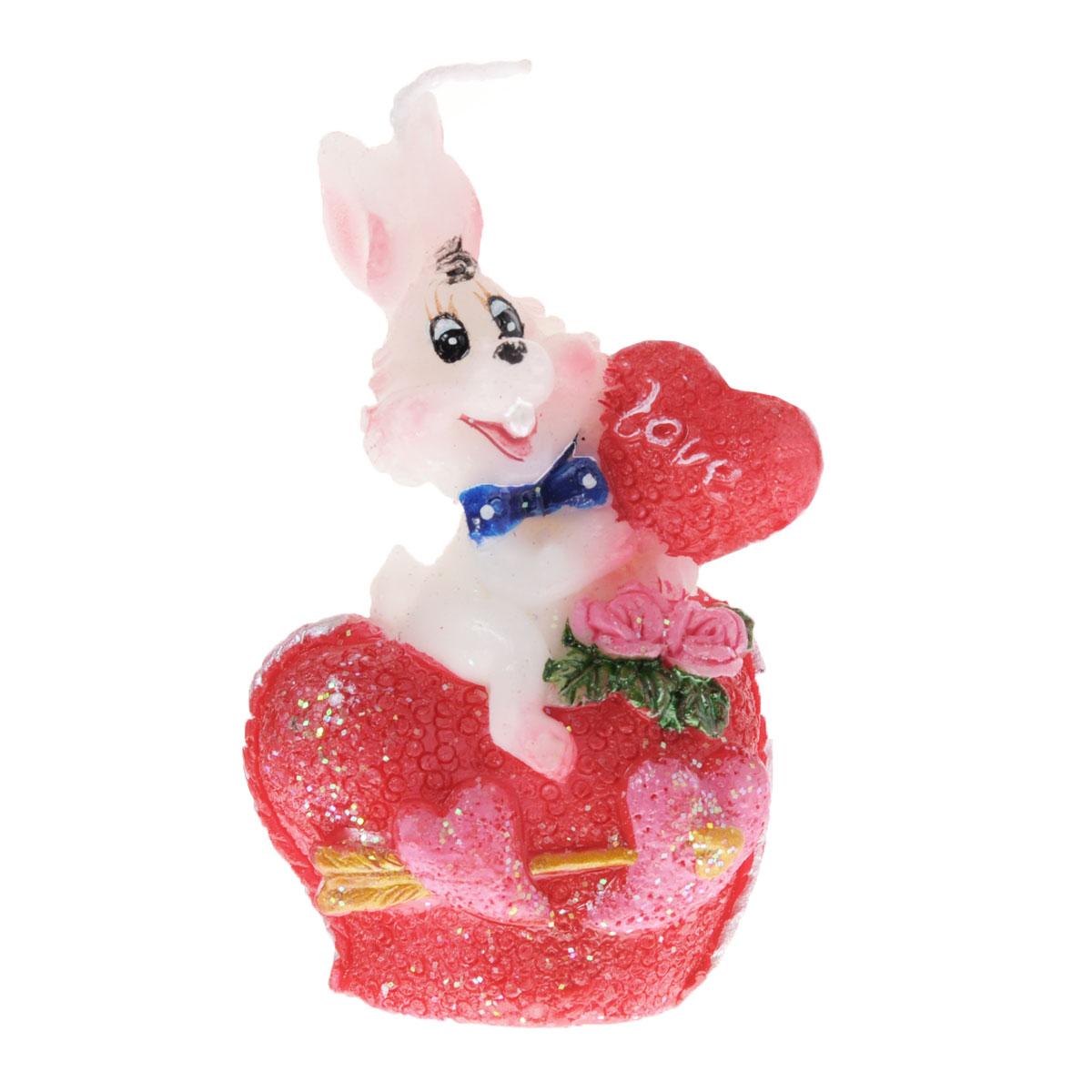 Свеча декоративная Lunten Ranta Влюбленный кролик. 5757057570Свеча декоративная Lunten Ranta Влюбленный кролик отличный подарок, подчеркивающий яркую индивидуальность того, кому он предназначается. Изделие выполнено из парафина в виде кролика держащего сердечко. Такая свеча украсит интерьер вашего дома или офиса. Оригинальный дизайн и красочное исполнение создадут отличное настроение.