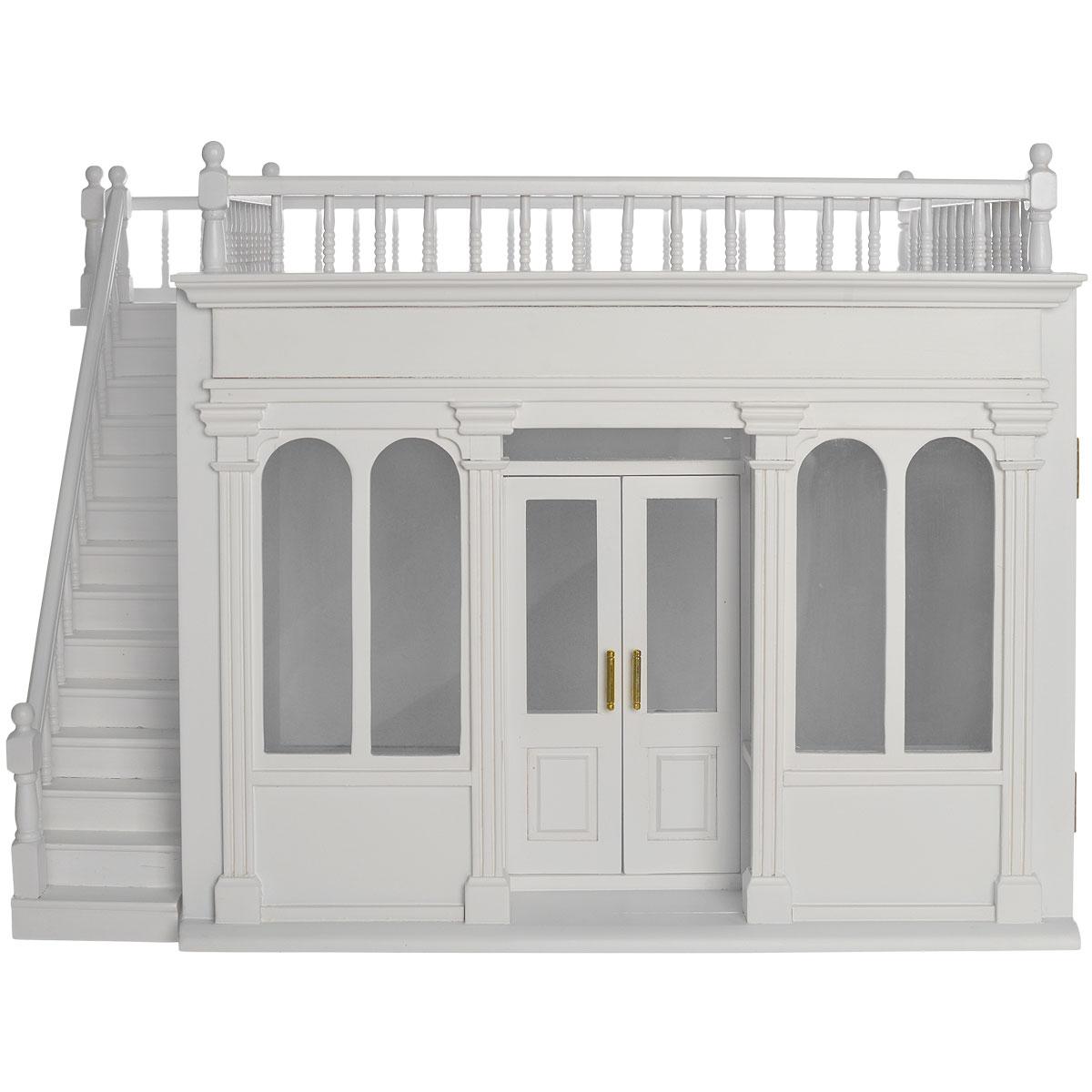 Миниатюра кукольная Art of Mini Румбокс Модерн, цвет: белый, 49 см х 37 см х 13 смAM0103001Миниатюра кукольная Art of Mini Румбокс Модерн изготовлена из дерева светлого цвета масштабе 1:12. Румбокс - это небольшая витрина, представляющая собой миниатюрную комнату или ее часть. Миниатюра выполнена в виде комнаты с балконом. Окна застеклены, а двери могут открываться. Кукольная миниатюра представляет собой целый мир с собственной модой, историей и законами. В нашей стране кукольная и историческая миниатюра только набирает популярность, тогда как в других государствах уже сложились целые традиции по созданию миниатюр. Создание миниатюр сводится к правильному подбору всех элементов интерьера согласно сюжетному и историческому контексту. Очень часто наборы кукольных миниатюр передается от поколения к поколению. И порой такие коллекции - далеко не детская забава, а настоящее серьезное хобби для взрослых. Стильные, красивые маленькие вещички и аксессуары интересно расставлять по своим местам, создавая необычные исторические, фантазийные и классические инсталляции...