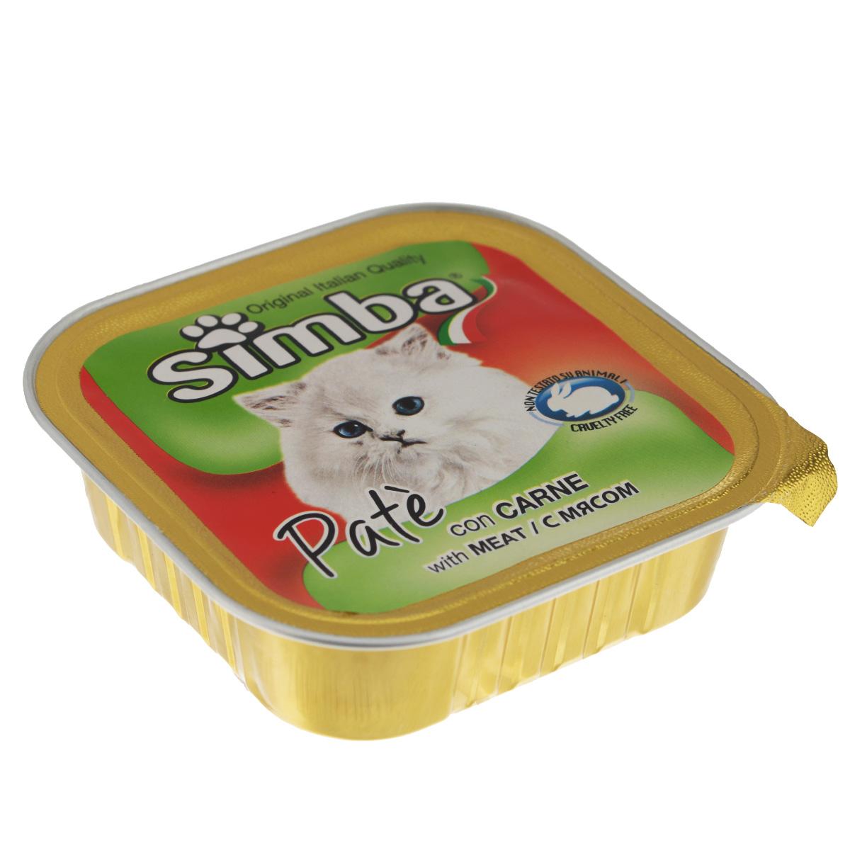 Консервы Monge Simba для взрослых кошек, паштет с мясом, 100 г70009218Консервы Monge Simba - полнорационный корм для взрослых кошек. Без добавления консервантов и антиоксидантов. Экологически чистое производство гарантирует высочайшее качество и длительные сроки хранения консервов. Тщательный отбор сырья и содержащийся в нем полный набор витаминов и микроэлементов обеспечивает отличную усвояемость и отсутствие проблем с пищеварением у ваших любимых питомцев. Состав: мясо и мясные субпродукты (6%), каррагенин, минеральные вещества, натуральные красители и вкусовые добавки. Пищевая ценность: протеин 8,0%, жир 7,5%, зола 2,1%, клетчатка 0,4%, влажность 82%. Добавки на кг: витамин А: 1 200; витамин D3: 160; витамин Е: 5 мг/кг. Товар сертифицирован.