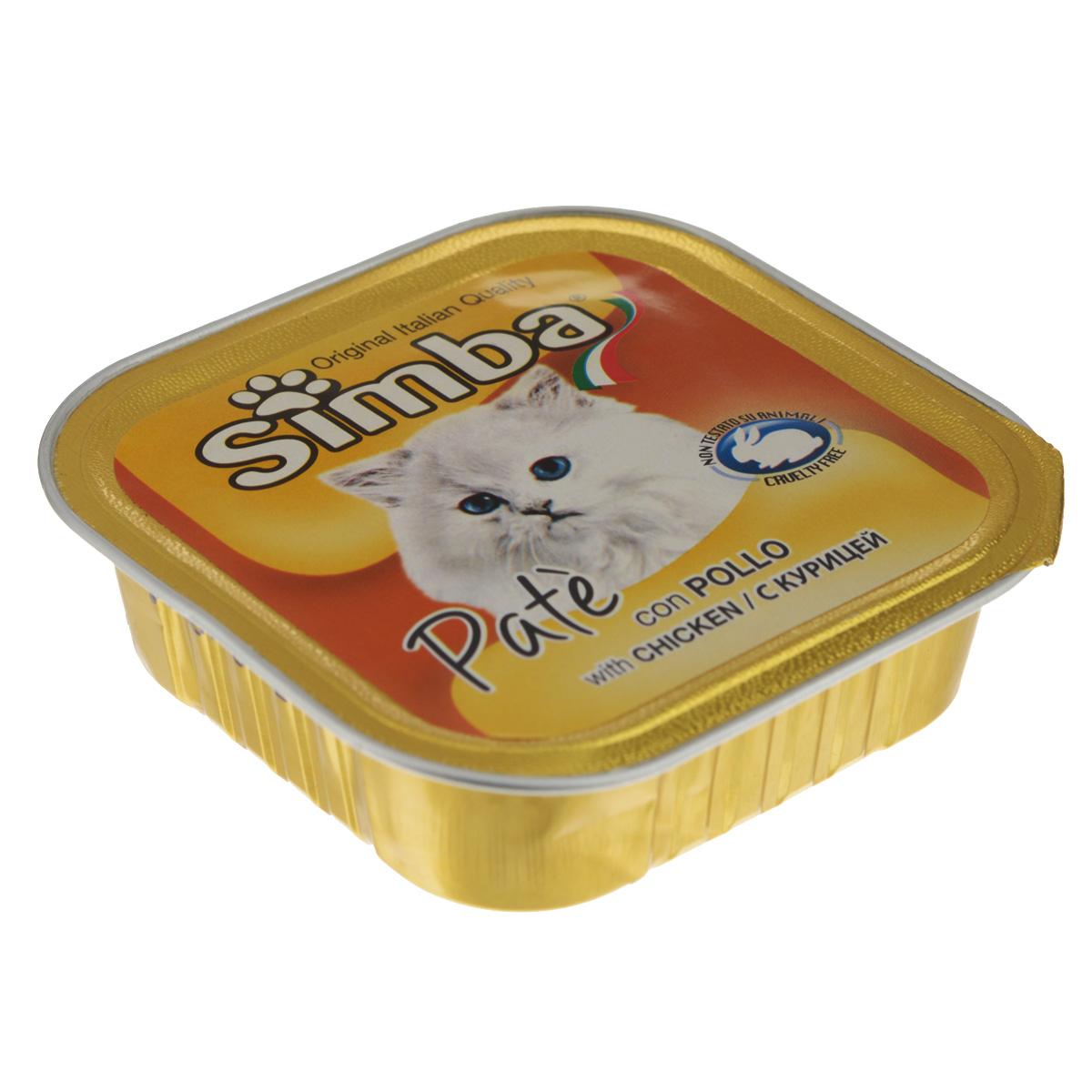 Консервы Monge Simba для взрослых кошек, паштет с курицей, 100 г70009225Консервы Monge Simba - полнорационный корм для взрослых кошек. Без добавления консервантов и антиоксидантов. Экологически чистое производство гарантирует высочайшее качество и длительные сроки хранения консервов. Тщательный отбор сырья и содержащийся в нем полный набор витаминов и микроэлементов обеспечивает отличную усвояемость и отсутствие проблем с пищеварением у ваших любимых питомцев. Состав: мясо и мясные субпродукты (мясо курицы 6%), каррагенин, минеральные вещества, натуральные красители и вкусовые добавки. Пищевая ценность: протеин 8,0%, жир 7,5%, зола 2,1%, клетчатка 0,4%, влажность 82%. Добавки на кг: витамин А: 1 200; витамин D3: 160; витамин Е: 5 мг/кг. Товар сертифицирован.